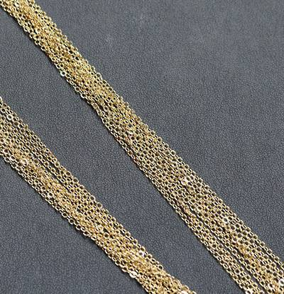"""GOLD PLATED CHAIN 19"""" (47.50CM) - 50 PACK"""