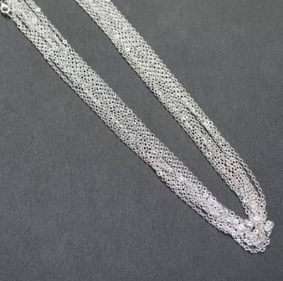 "SILVER PLATED CHAIN 19"" (47.50CM) - 100 PACK"