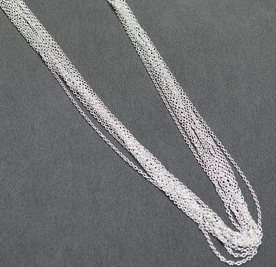"SILVER PLATED CHAIN 18"" (45CM) - 50 PACK"