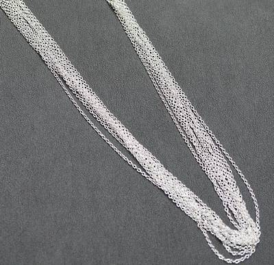 "SILVER PLATED CHAIN 18"" (45CM) - 100 PACK"