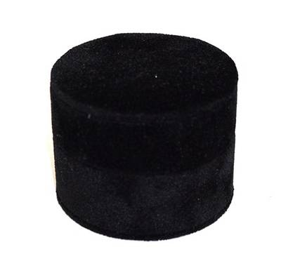 ROUND RING BOX BLACK SUEDE (SECOND QUALITY)