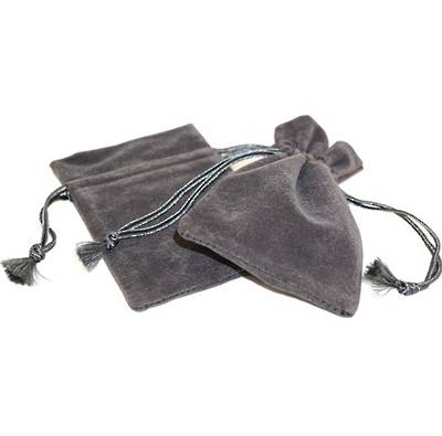 DELUXE CHARCOAL SUEDE PARTITION POUCH MEDIUM