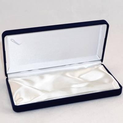 SSN1 - MEDIUM NECKLACE / PEARL BOX NAVY FLOCK WHITE INSERT