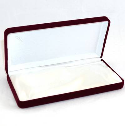 SSN1 - MEDIUM NECKLACE / PEARL BOX WINE FLOCK WHITE INSERT