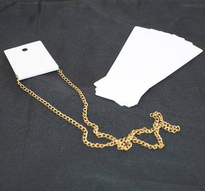 NECKLACE DISPLAY CARD WHITE (100 PCS)