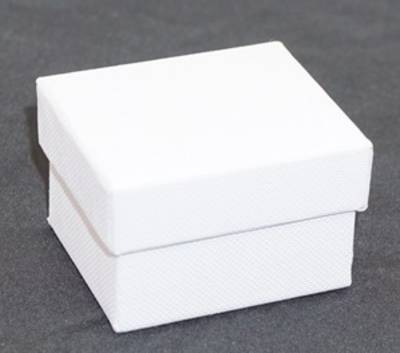 CBR - RING BOX CARDBOARD WHITE BLACK PAD (60 PCS)