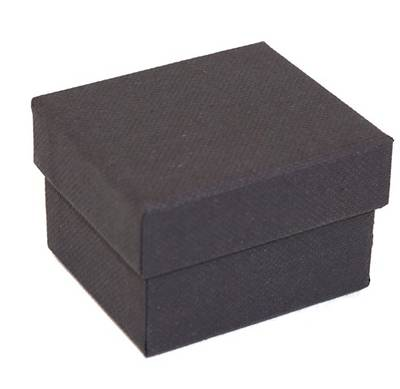 CBR - RING BOX CARDBOARD BLACK BLACK PAD (60 PCS)