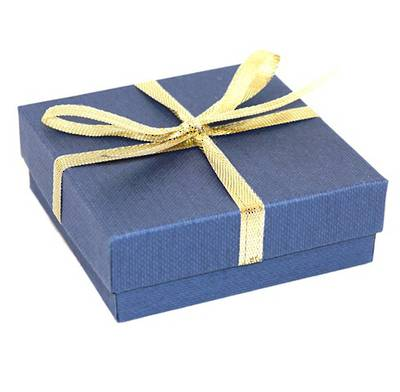 CBBM156 - MULTI BOX CARDBOARD NAVY GOLD BOW WHITE PAD (36 PCS)