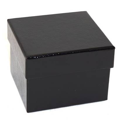SDRO - CARDBOARD RING BOX GLOSS BLACK BLACK PAD
