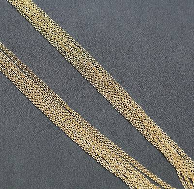 """GOLD PLATED CHAIN 18"""" (45CM) - 100 PACK"""