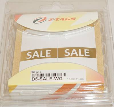 "ZETAGS PRE-PRINTED ""SALE"" BORDER LARGE PRICE LABELS GOLD (96 PCS)"