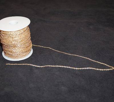 DAWN CHAIN EXTRA FINE CABLE GOLD PLATED 2.3X2.7MM (1 MTR)