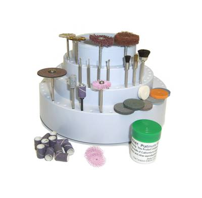 FOREDOM 43 Piece ACCESSORIES Kit with stand