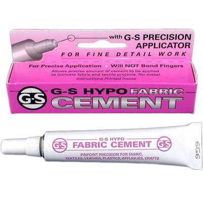 G.S. HYPO FABRIC CEMENT - for fabrics & textiles