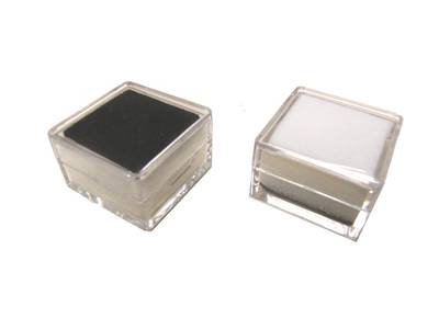 SQUARE GEM JAR CLEAR REVERSIBLE BL/WH INSERT (1 DOZ)