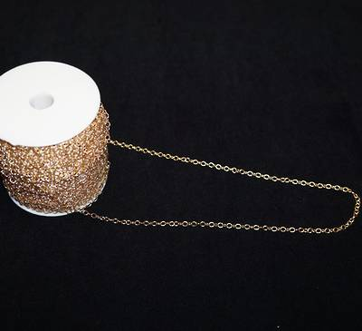 JULIE CHAIN HEAVY CABLE GOLD PLATED 3.6X4.6MM (1 MTR)