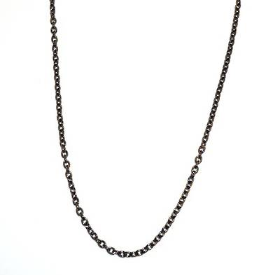 JULIE CHAIN HEAVY CABLE BLACK PLATED 3.7X4.5MM (1 MTR)