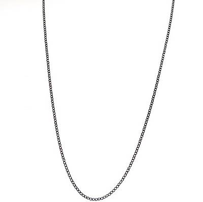 PAM CHAIN EXTRA FINE CURB BLACK PLATED 1.9X2.7MM  (1 MTR)