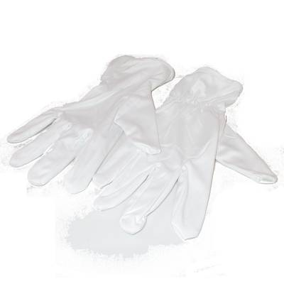 MICROFIBRE GLOVES - WHITE SMALL