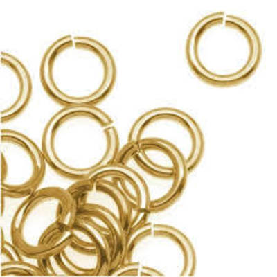 JUMP RING GOLD PLATED 8MM THICK GAUGE 1.2MM (100 PACK)