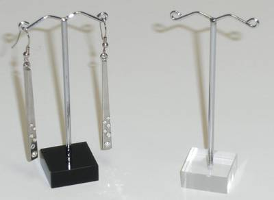 EARRING STAND SLIM BLACK PERSPEX & WIRE