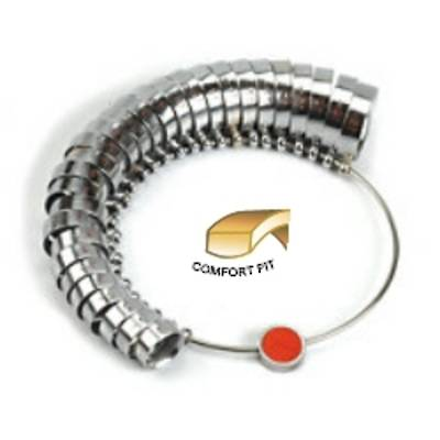 RINGSIZES 6mm WIDE COMFORT FIT A - Z + 6
