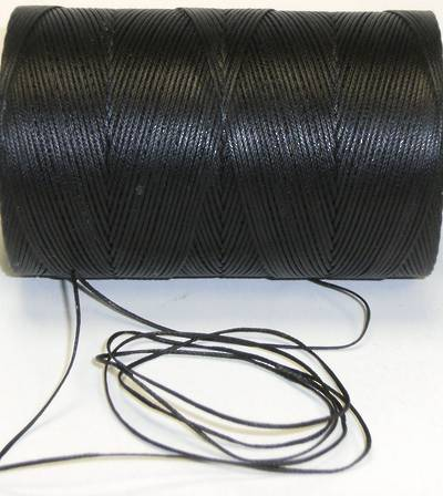 BLACK WAXED JEWELLERY CORD 1.4MM / FULL ROLL (300 MTRS)
