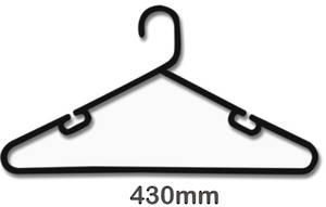 Quality NZ Made Plastic Boutique Clothes Hanger - 305G