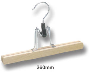 Wooden skirt clamp hanger - New Stock special $3 each boxed