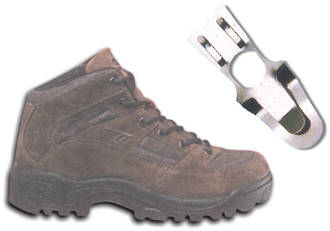 Pricing or Sizing Ticket holder for Shoes.  Fits all shoes, boots and other footware.