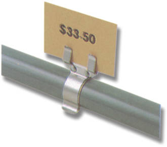 Tube ticket holder for Pricing & Sizing - fits 22 to 28mm Tubing