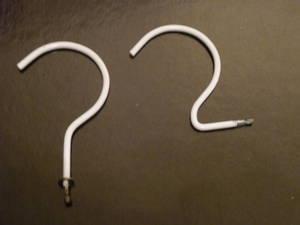 Hanging Cardboard Swatch Display Hook