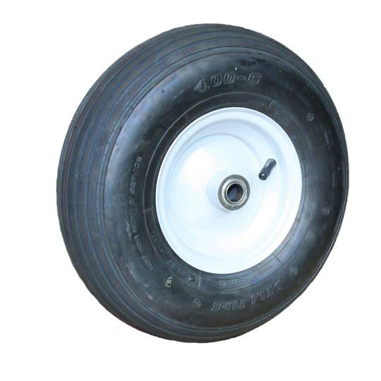 Pneumatic Wheel - Steel Rim - 400x6 Ribbed - BWE150-400R