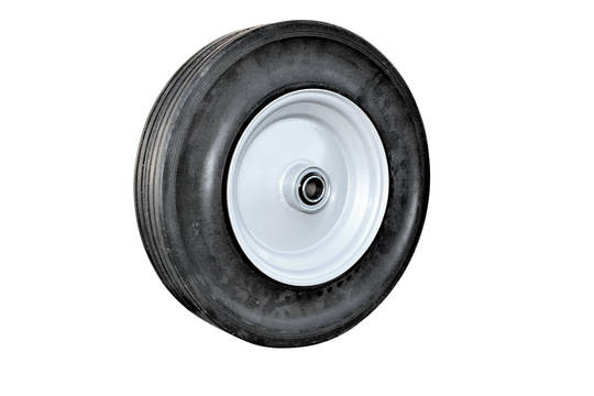 Solid Rubber Wheel 380mm - Steel Rim - BWSR4008