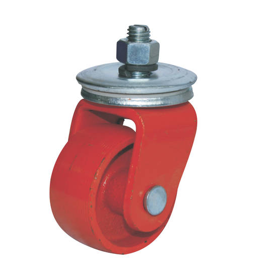 Swivel 60mm Cast Iron Castor - M10 Thread - CJI60