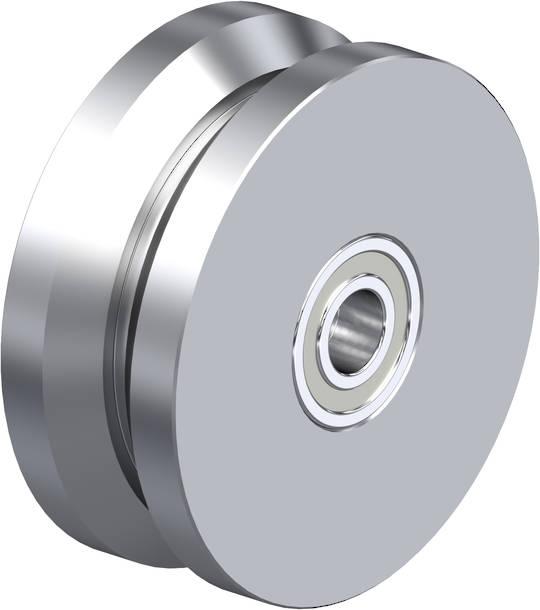 V-Groove Wheel 100mm - Steel - 600KG -S100V