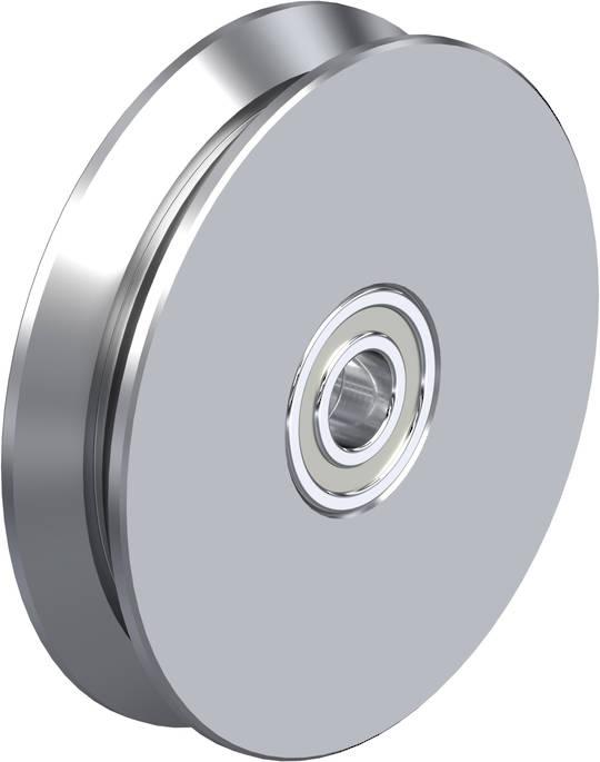 V-Groove Wheel 150mm - Steel - 800KG - S150V