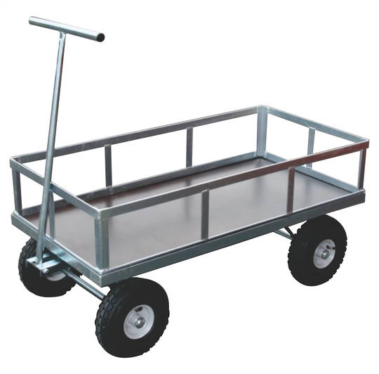Heavy Duty Flat Deck Trolleys - Removable Sides - FDP1260-ZS