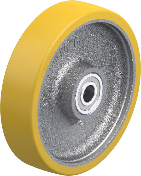 Urethane Wheel 250mm - Cast Iron Centre - MXU250