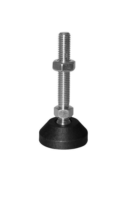 Adjustable levelling feet,ball jointed,mild steel ,40mm diameter base,M8x100mm-AF-Z-M8x100