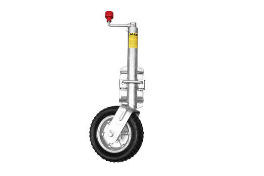 Swing up type Jockey Wheel 250mm rubber wheel JW 20
