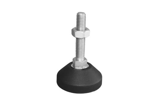 Fixed levelling feet,mild steel,50mm diameter base, M10x50mm-FF-Z-M10x50
