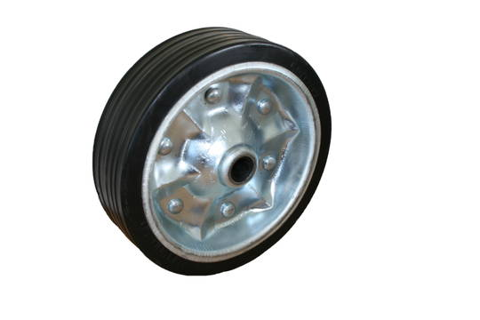Solid Rubber Wheel 200mm - Steel Rim - JW200