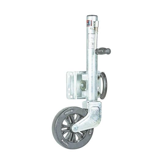 Swing up type Jockey wheel wide 75mm x200mm nylon wheel JWK 200-75