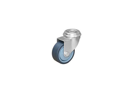 swivel  50mm grey rubber castor  KLR50/H