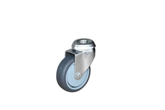 Swivel 75mm Rubber Castor - KLR75/H