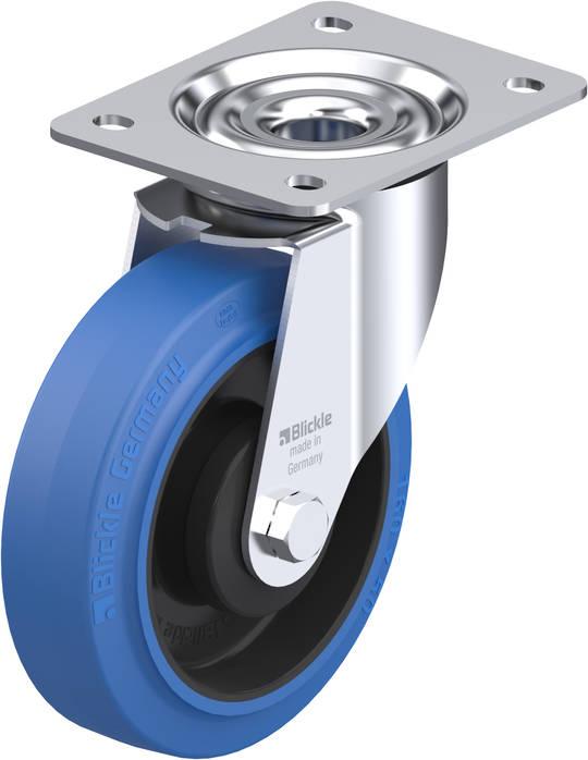 Swivel 150mm Elastic Rubber Castor - MHB150/P