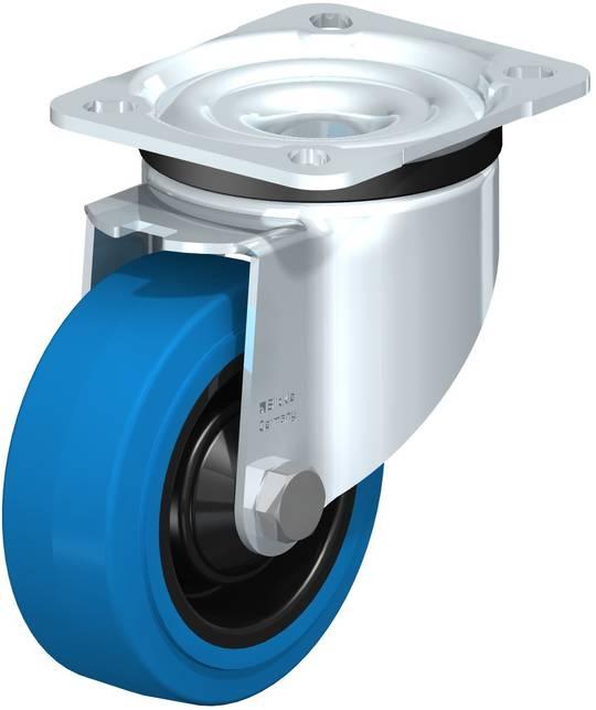 Swivel 100mm Elastic Rubber Castor - LKB100/P