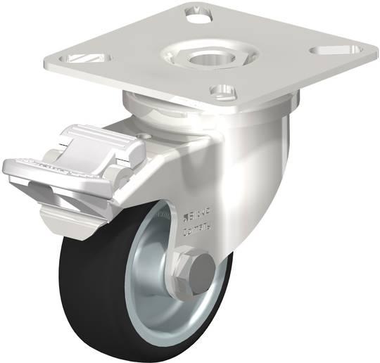 Swivel & Total Brake 50mm Rubber Castor - Stainless Steel - BSR50/SP-TB