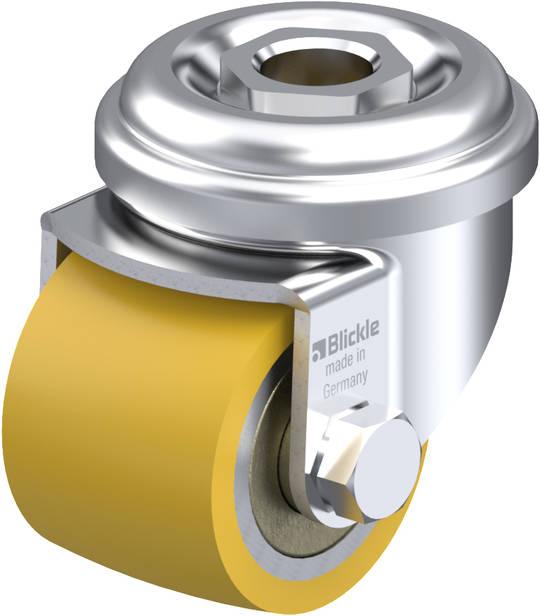 Swivel 35mm Urethane Castor - Low profile -100KG - BHU35/H